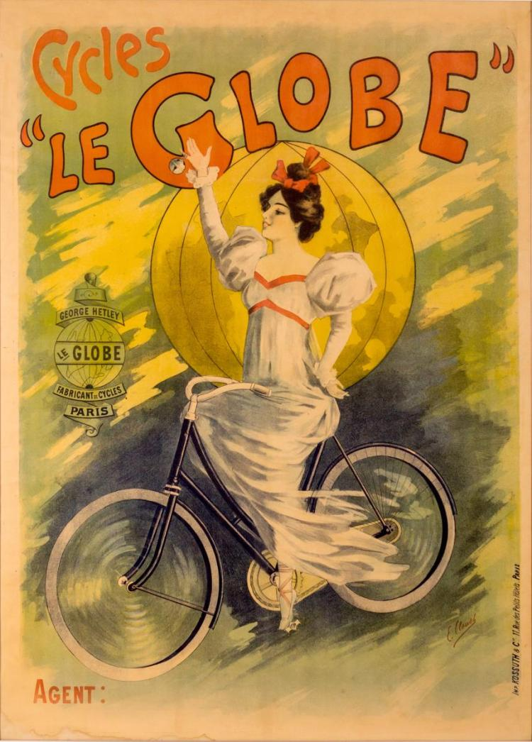 Cycles Le Globe Paris Bicycle Reproduction Poster