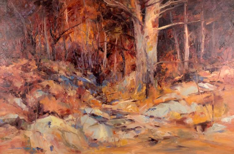 Edward Norton Ward (1928-) Rocky Landscape