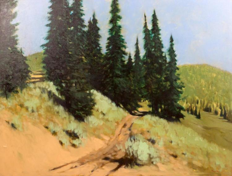Paul Forster (1925-2012) Green Landscape