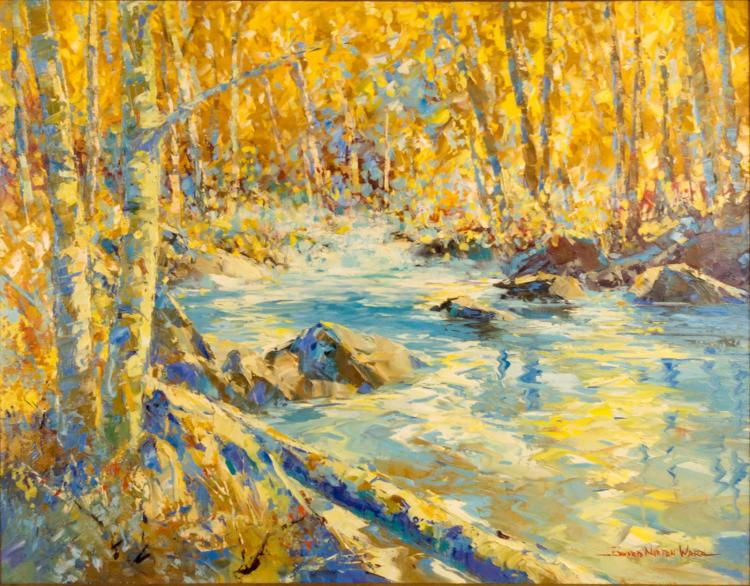 Edward Norton Ward 1928 River Landscape
