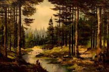 K L Gentz (1895-) Wooded Stream