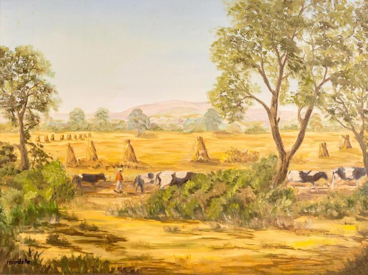 Mardelle Driscoll (1939-2014) Pastoral Scene