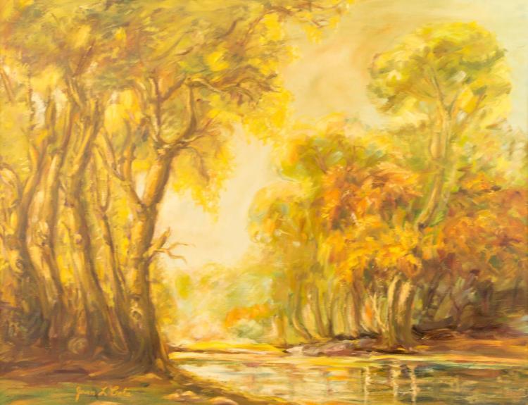 Juan L. Cota (20th C) River Landscape