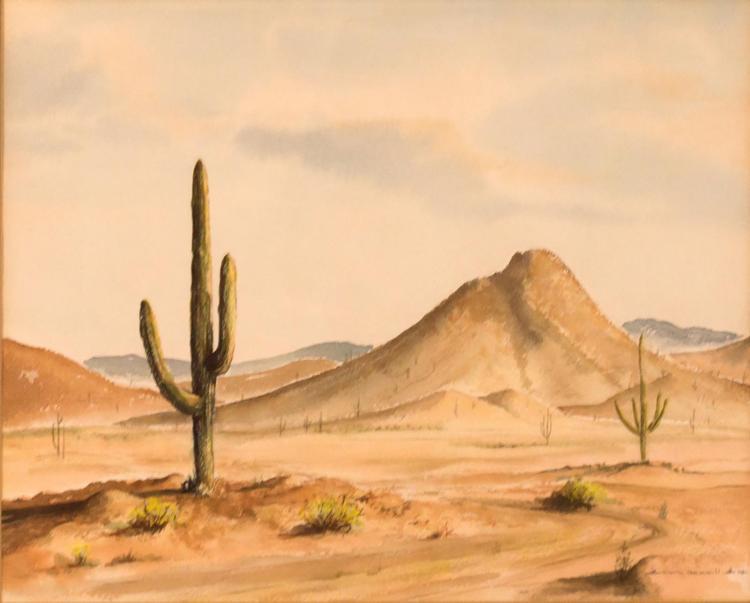 Gloria Gemmill (20th C) Desert Landscape
