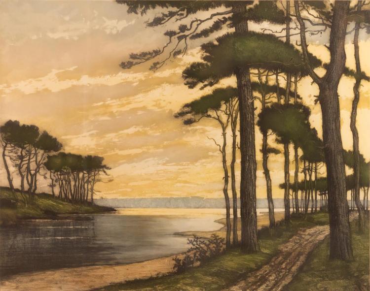 Pierre Labrouche (1876-1956) Landscape Etching