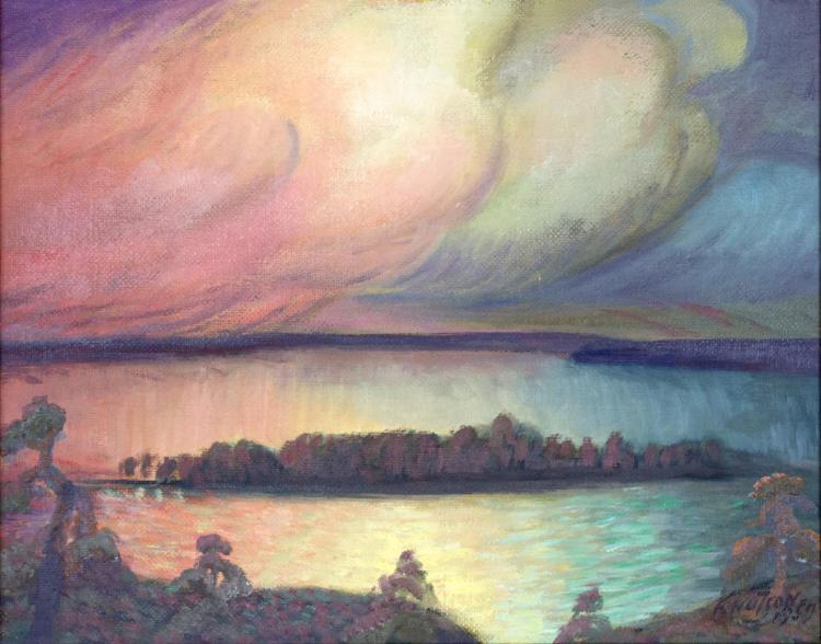 Alzada Knutson (1894-1987) Landscape, Oil Painting