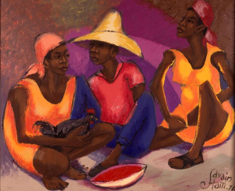 Savain Petion (1906-1973) Oil Painting