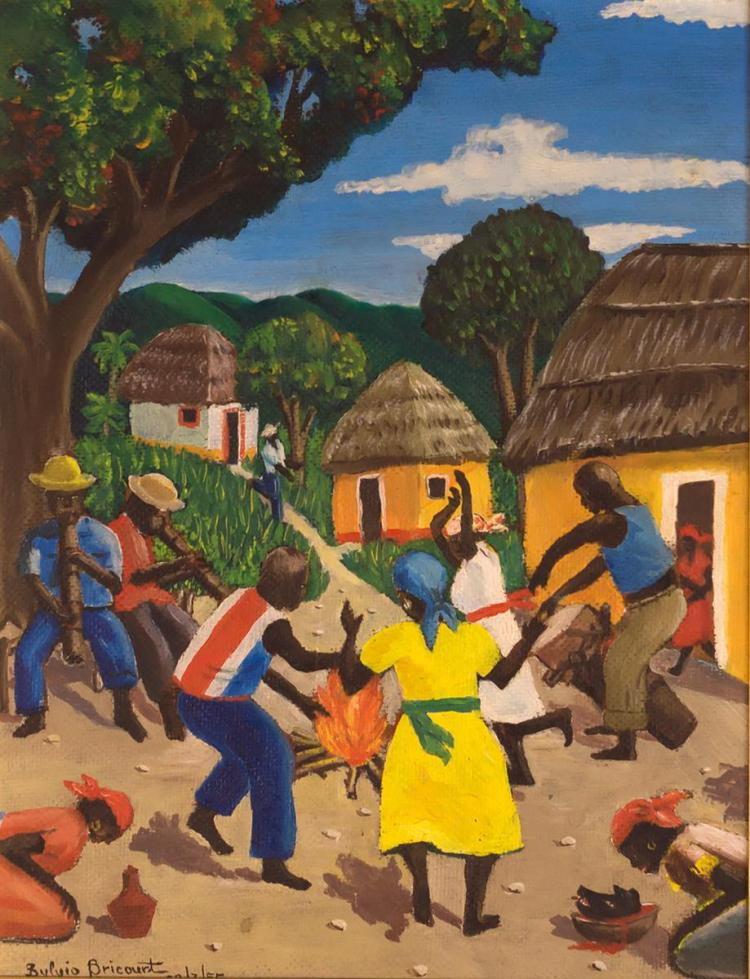 Sylvio Bricourt (20th C.) Oil Painting