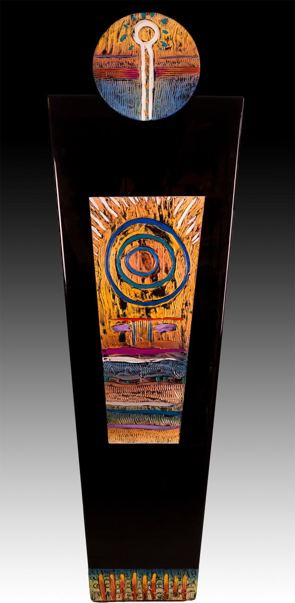 Dan Carstens (20th C.) Lacquered Wall Sculpture