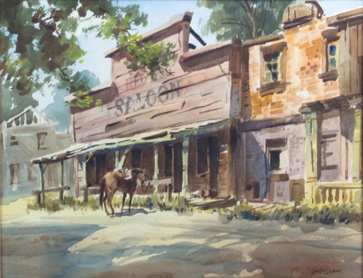 James McCanne (1903-1995) Western Watercolor