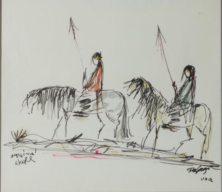 Ted DeGrazia (1909-1982) Original Ink Drawing