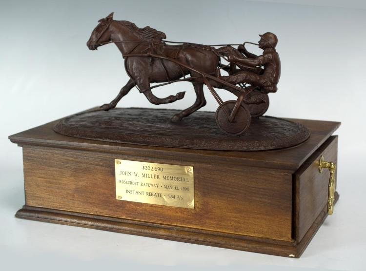 Harness Racing Bronze, John W. Miller Memorial