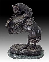 Frederic Remington (1861-1909) Rattlesnake Bronze