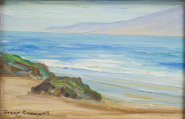 Joane Cromwell (1895-1969) California Seascape Oil