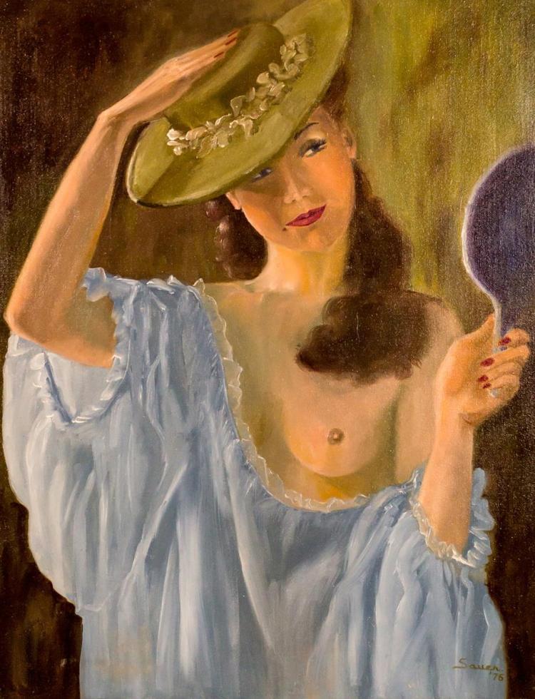 Mardelle Sauer Driscoll (1939-2014) Nude Portrait