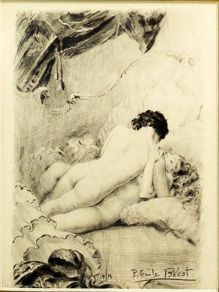 Paul-Emile Becat (1885-1960) Nude Ltd Ed