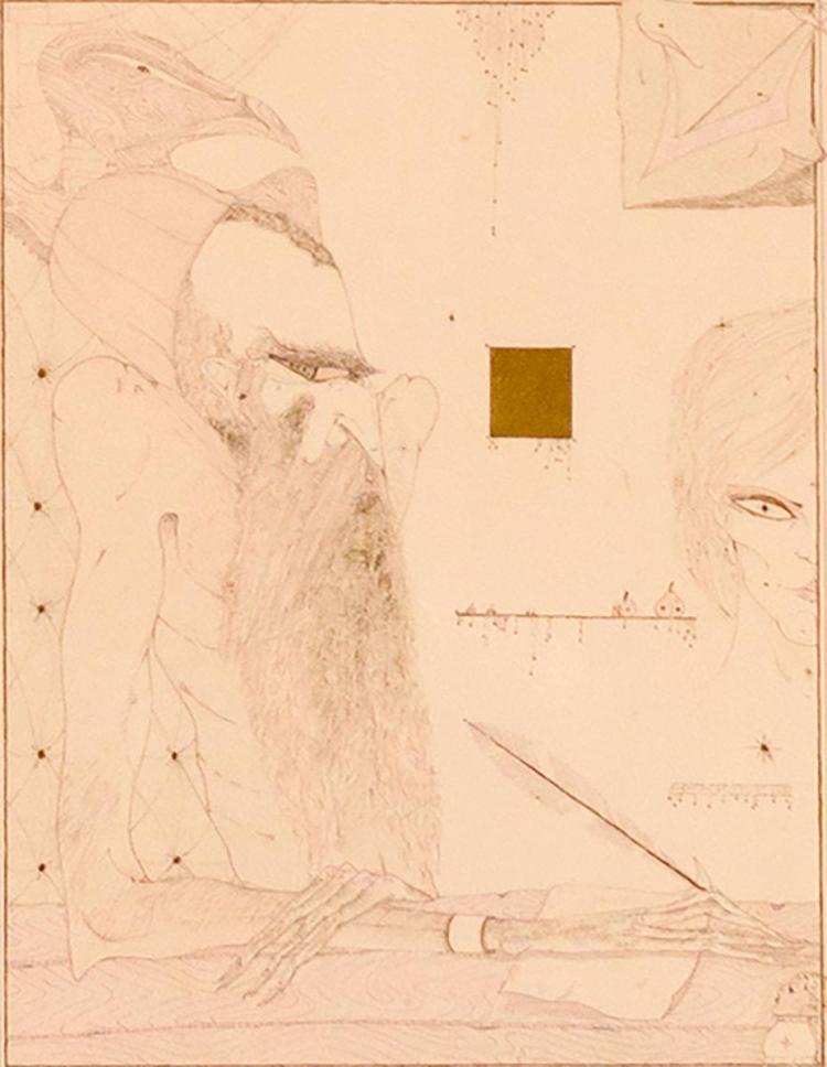 Martin Berkovitz (1945-) Mystic of Toledo, Gouache