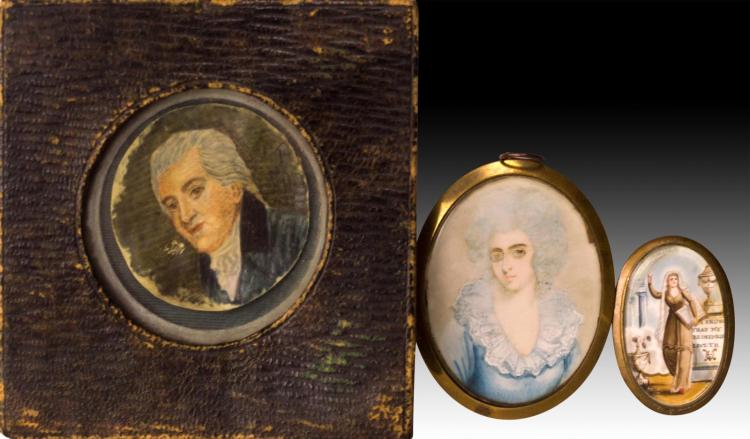 3 Portrait Paintings on Ivory Princess de Lamballe