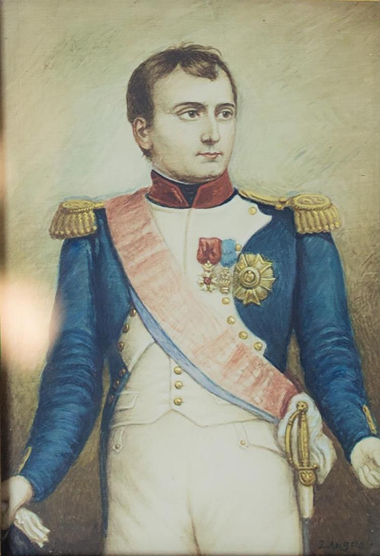 Manner of Jacques Augustin Drawing, Young Napoleon
