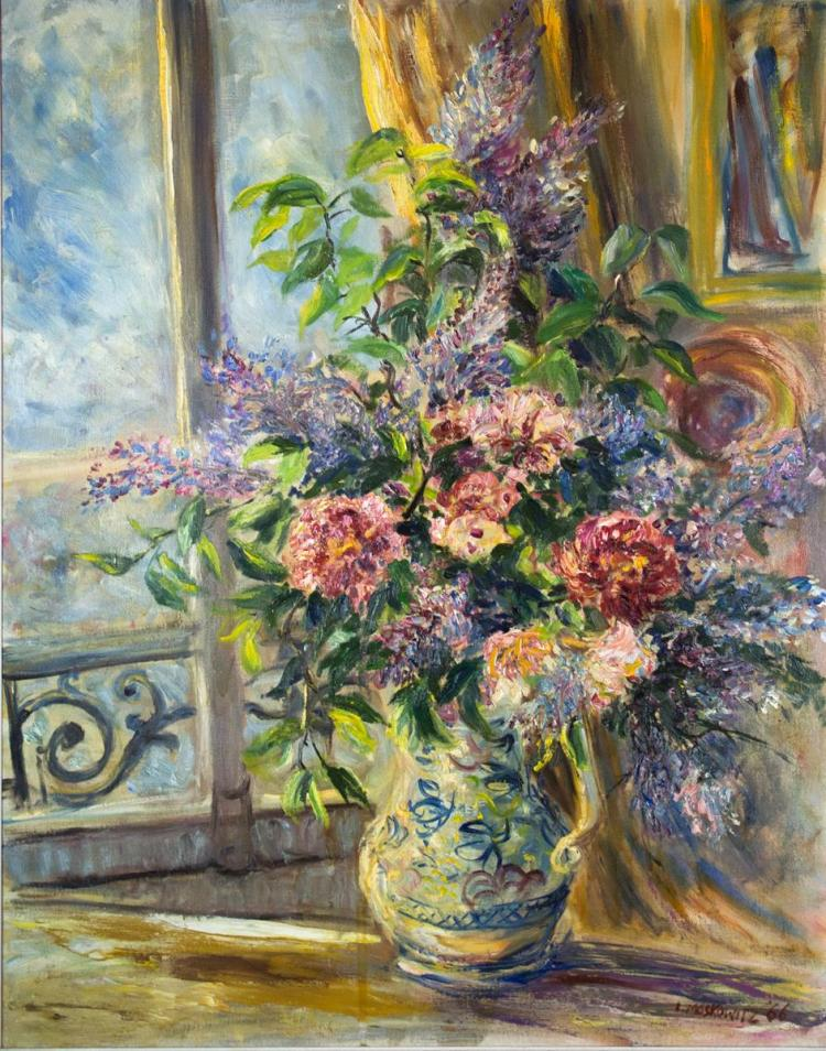 Ira Moskowitz (1912-2001) Floral Still Life, 1966