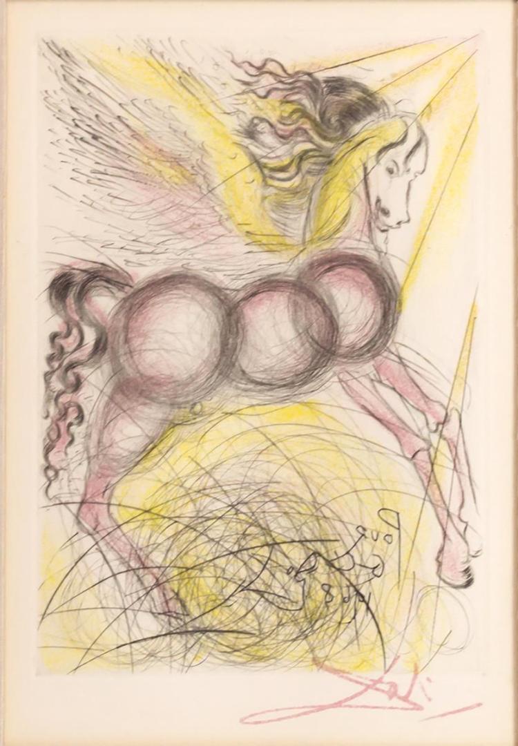 Salvador Dali (1904-1989) Etching