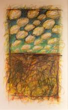 Signed Abstract Pastel Drawing
