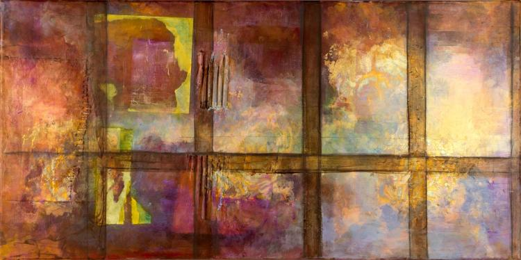 Jennifer Gale Allred (1955-2016) Abstract Painting
