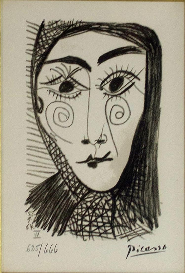 Pablo Picasso (1881-1973) Bonheur Lithograph Ltd