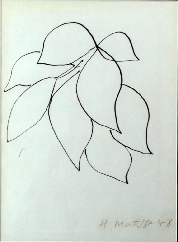 Henri Matisse (1869-1954) Lithograph, Signed