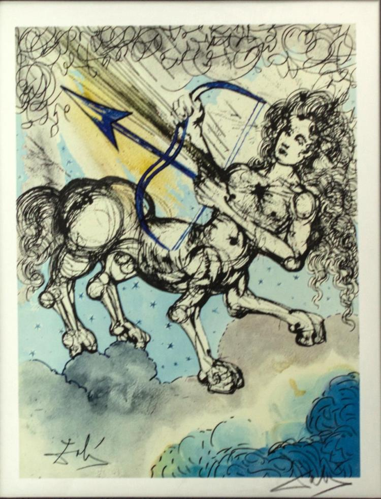 Salvador Dali (1904-1989) Sagittarius Lithograph