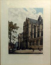 20th C. Martongeau Engraved Aquatint Cathedral