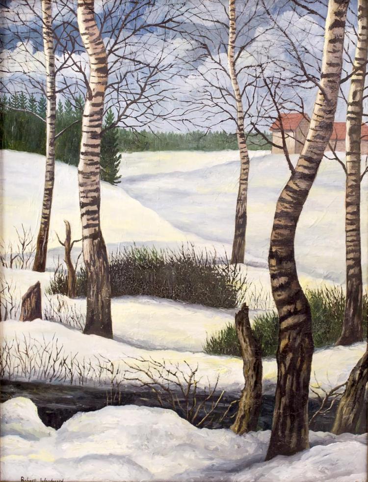 Attr. Robert Woodward (1885-1957) Winter Landscape