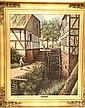 Signed H. Bintzin Oil on Canvas, Water Wheel