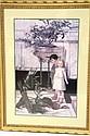 Framed Print, Children w/ a Broken Planter