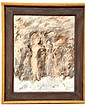 Signed Iobst Oil on Board, Figures