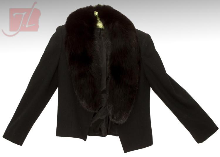 vintage regency neiman marcus wool fox fur coat. Black Bedroom Furniture Sets. Home Design Ideas