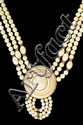 Antique Chinese Ivory Domed Cabochon Necklace