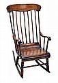 Antique Boston Rocking Chair, Circa 1850's.