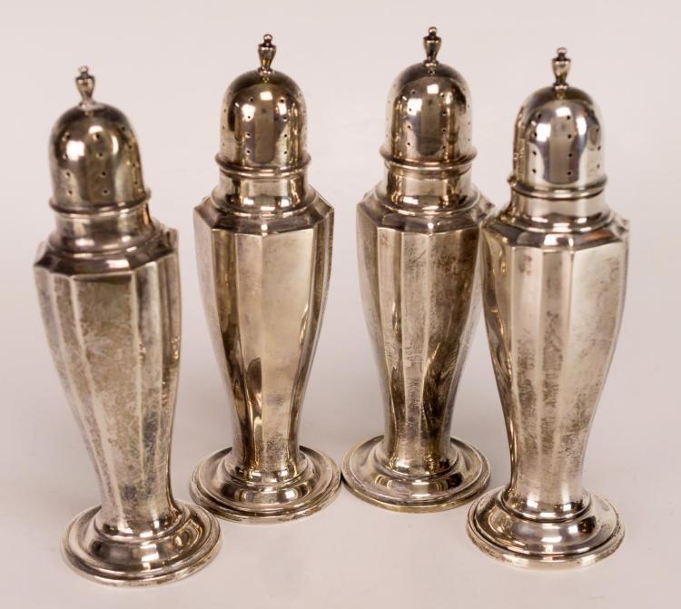 4 Pc. Watson Sterling Silver Shaker Lot