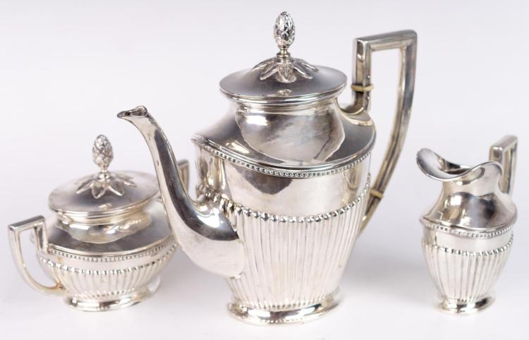 3Pc Sterling Silver Tea Set