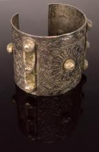 Hallmarked Brass Plated Cuff Bracelet