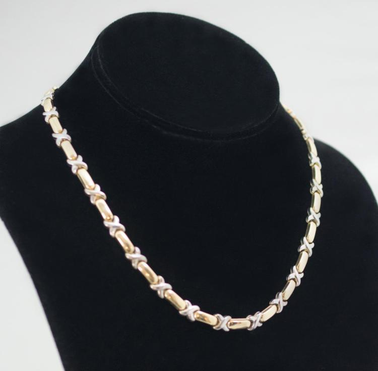 10K Two-Tone Gold Necklace