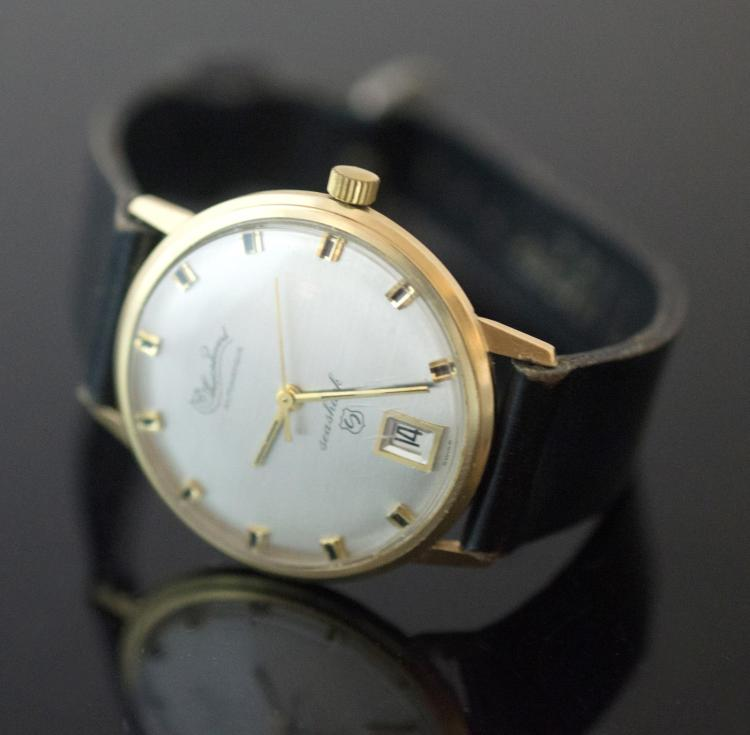14K Yellow Gold Lucien Piccard Seashark Wristwatch