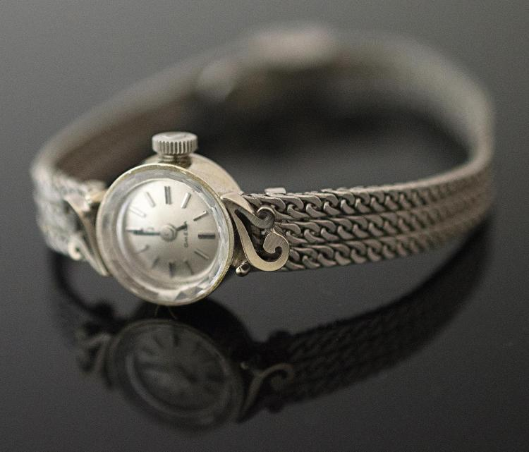 14K White Gold Vintage Omega Ladies Wristwatch