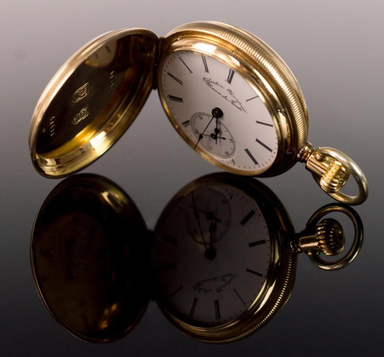 14K Gold Charpier Chaux De Fonds Pocket Watch