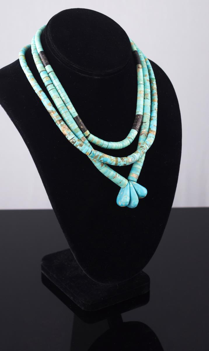3 Pc. Beaded Turquoise Necklace Lot