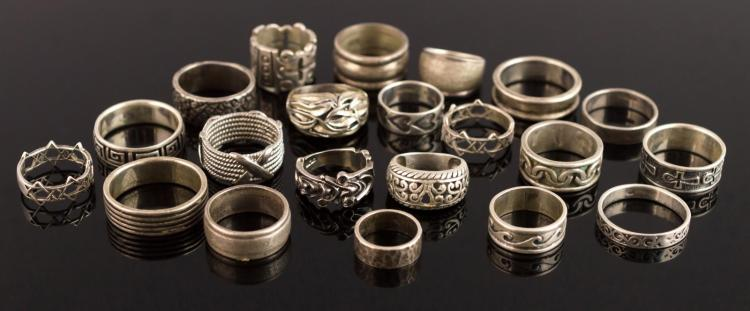 21 Pc. Sterling Silver Ring Lot