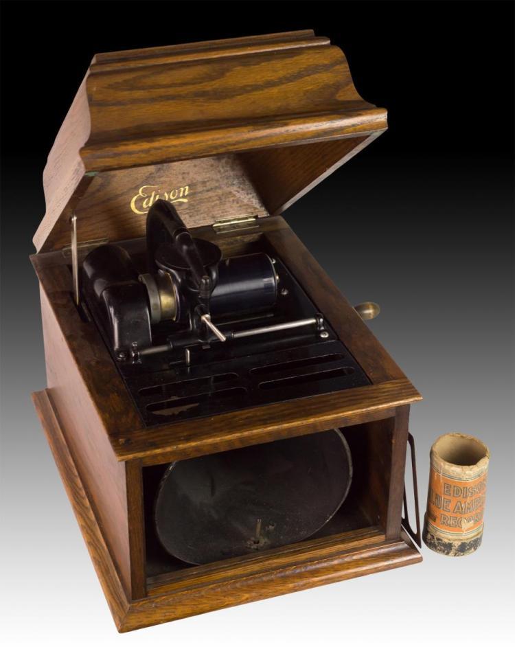 19th C Thomas Edison Amberola Phonograph
