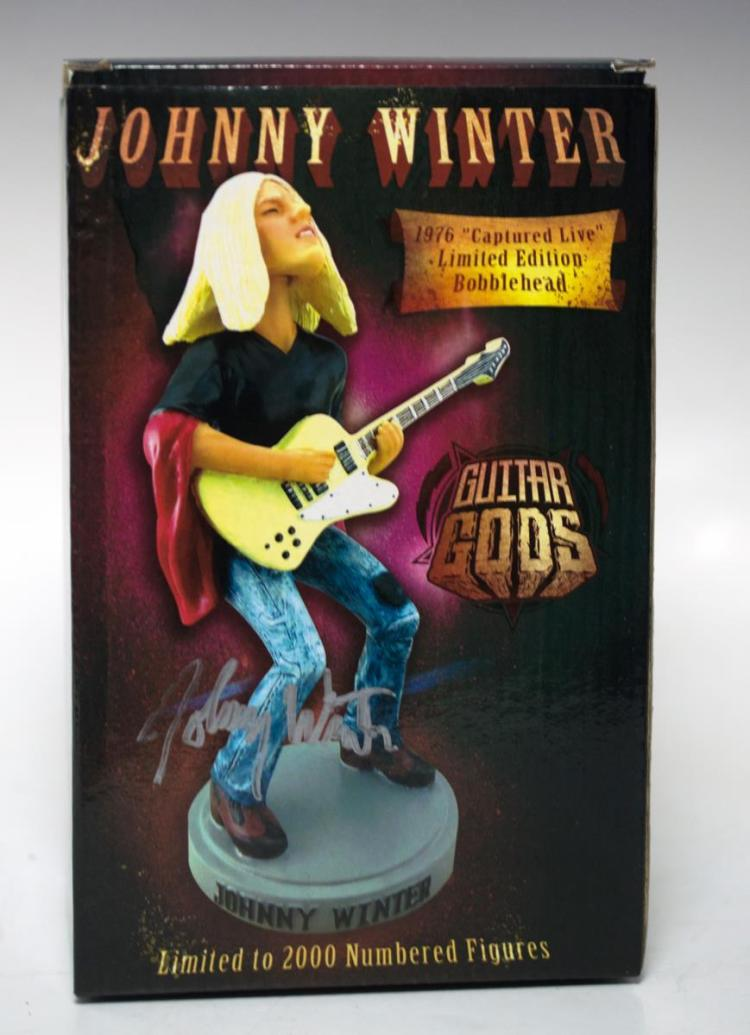 Signed Johnny Winter Ltd Ed Bobblehead