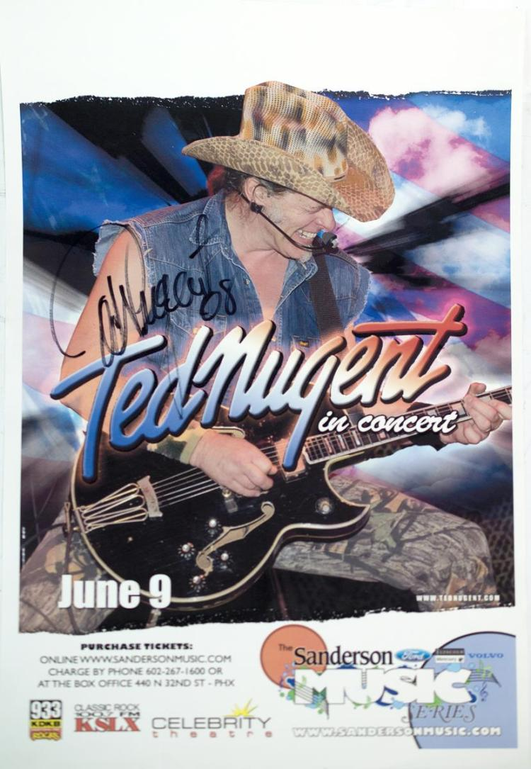 Autographed Ted Nugent Poster